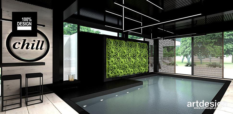 nowoczesny dom z basenem aranżacja