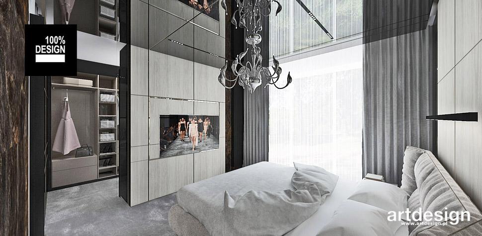 sypialnia wnętrza aranżacja