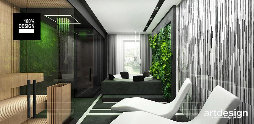 projekt wnętrza domowe spa