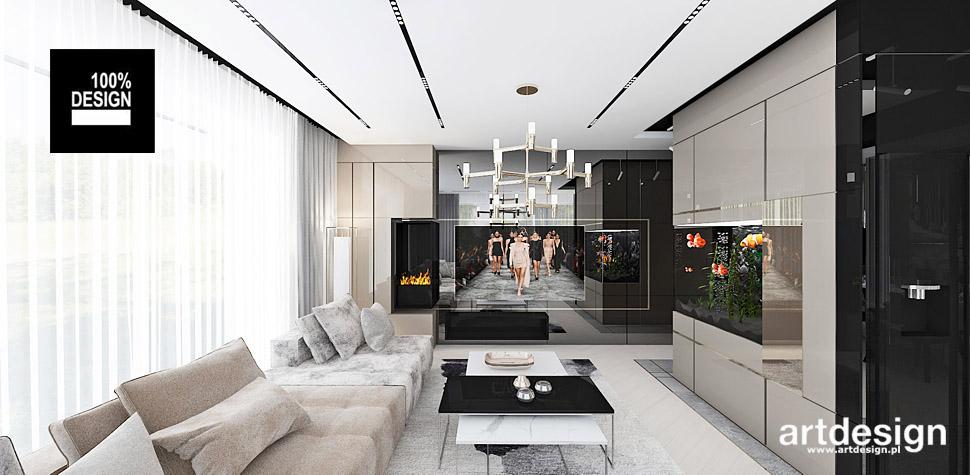 projekty wnętrz apartament bezowe wnętrza