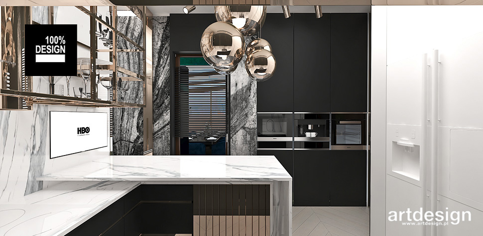 projekty kuchni wnętrza
