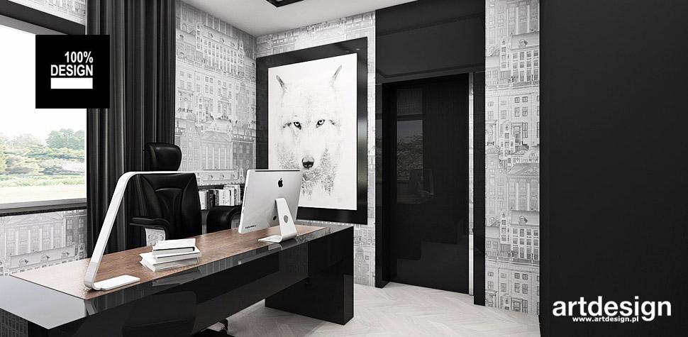 nowoczesny gabinet projekt wnętrza