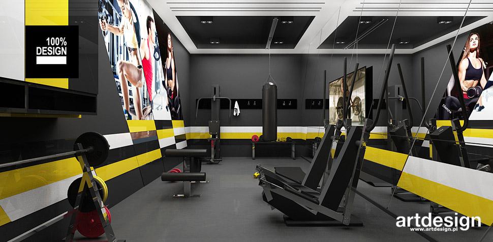 fitness w domu aranżacja wnętrz