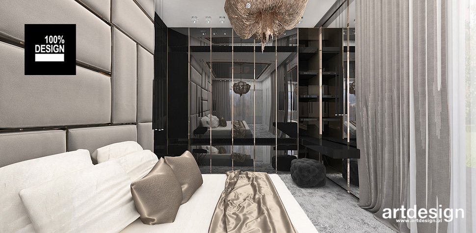 projekty sypialni przytulne wnętrza