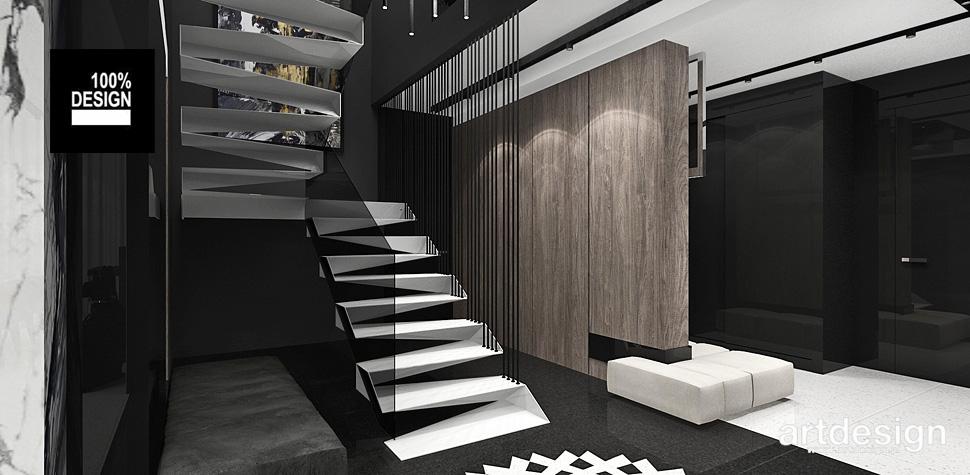 białe schody wnętrza design