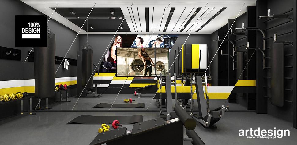 projekty domowej siłowni wnętrza