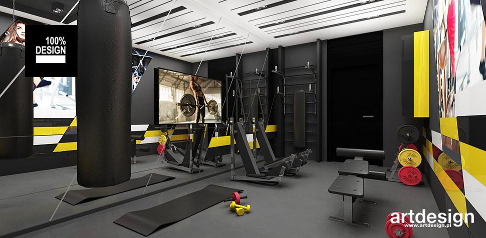 aranżacje domu pokój fitness