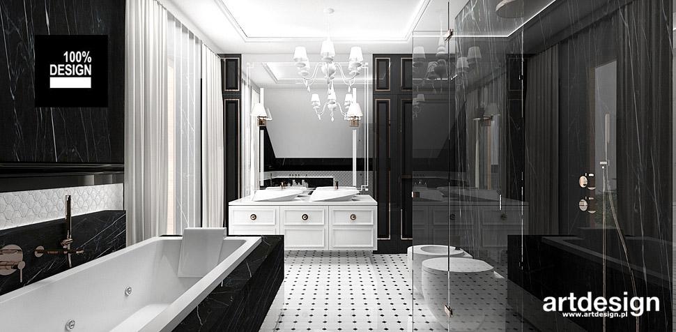 projekt wnętrza łazienki na poddaszu