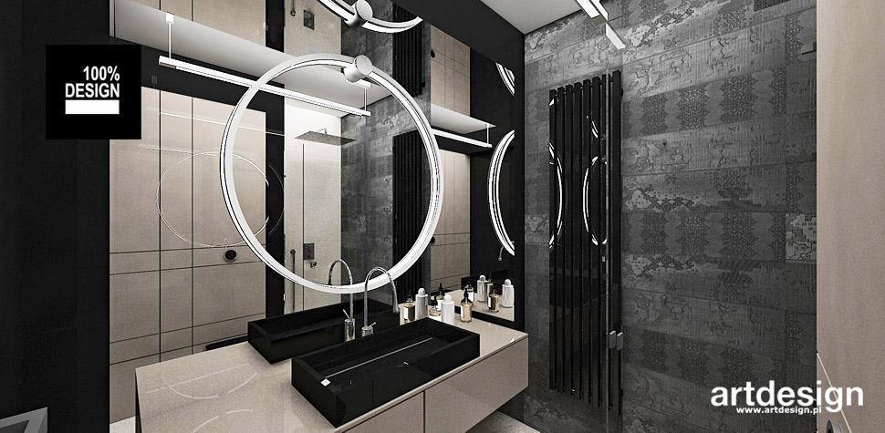 szara bezowa łazienka wnętrza