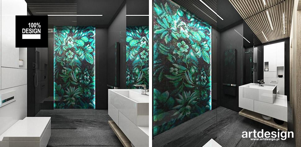 zielono szara łazienka wnętrza