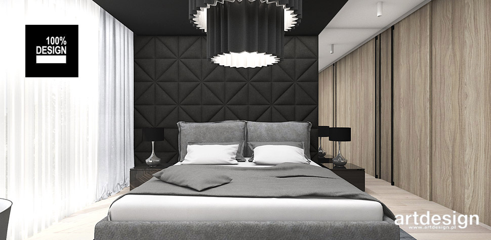 nowoczesna sypialnia projektowanie wnętrz