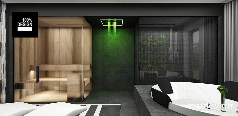 sauna jacuzzi wnętrza aranżacja