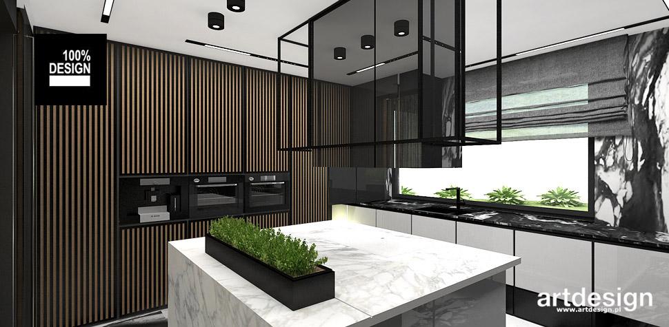 kuchnia drewno biała czarna