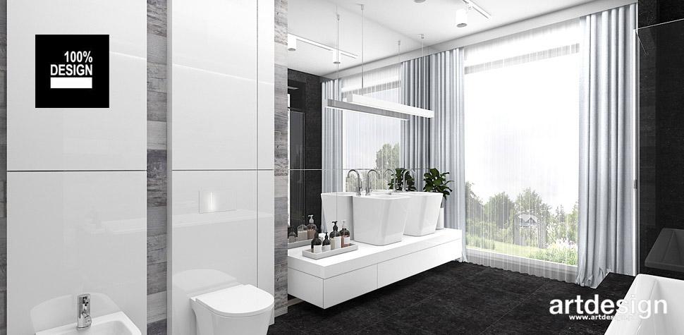 biało szara aranżacja łazienki
