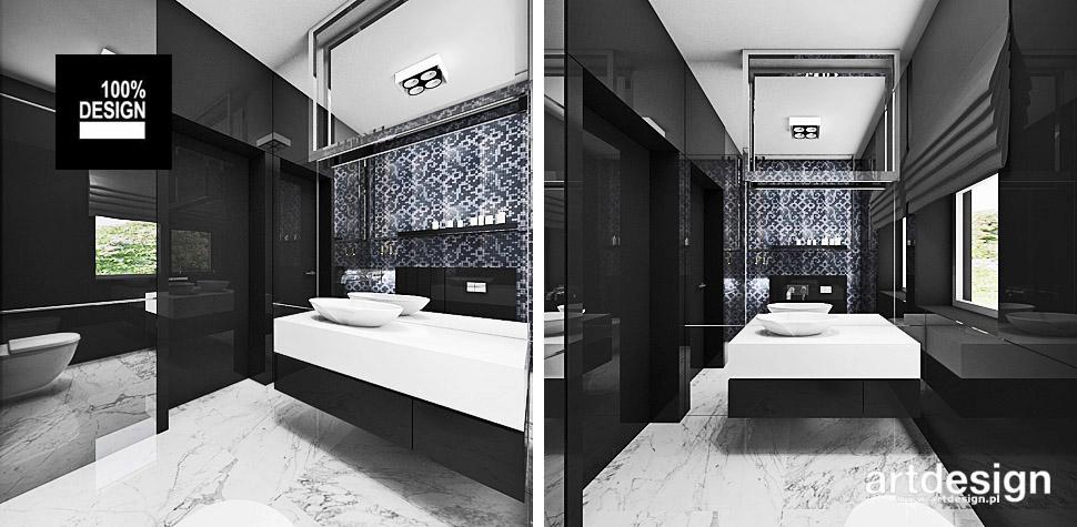 aranżacje łazienki niebieska mozaika