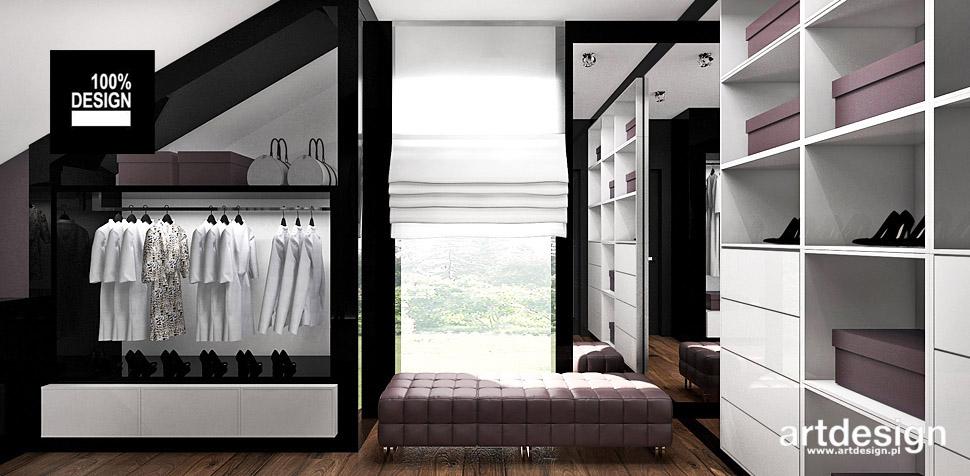 aranżacje garderoby projekty