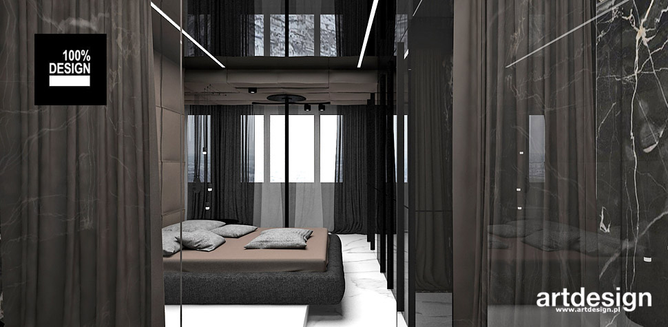 nowoczesna sypialnia wnętrza