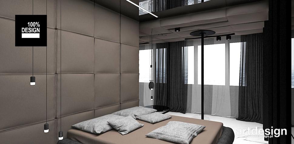 sypialnia brązowa projekty wnętrz