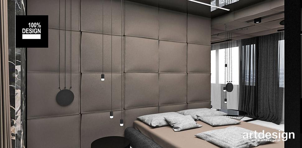 sypialnia brązowy zagłówek wnętrza