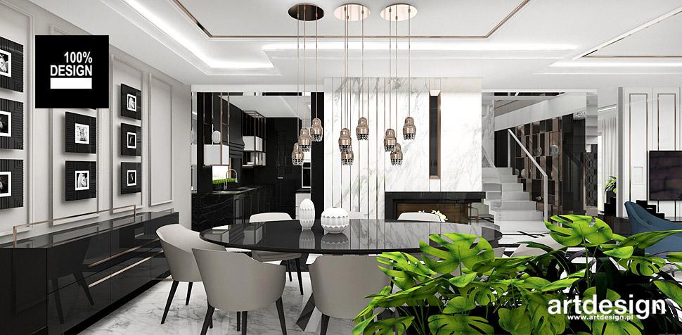 projekty wnętrz domu styl eklektyczny