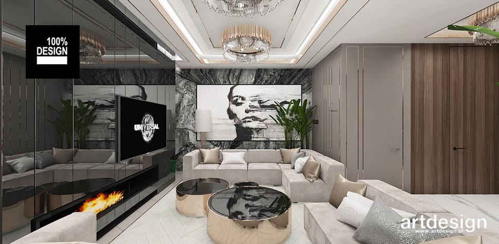 projekt wnętrza mieszkania salon