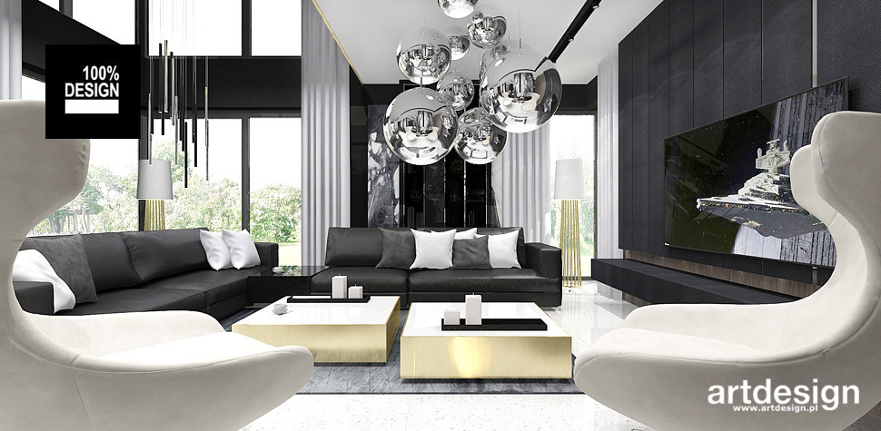 salon w nowoczesnym domu