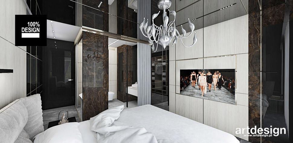 projekt sypialni z łazienka