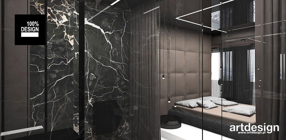 aranżacja wnętrza sypialni z łazienka