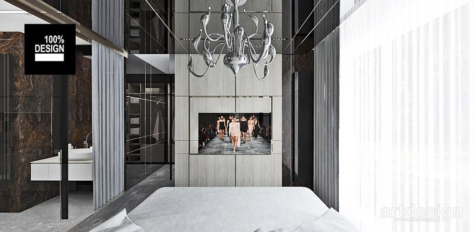 sypialnia z łazienka wnętrza
