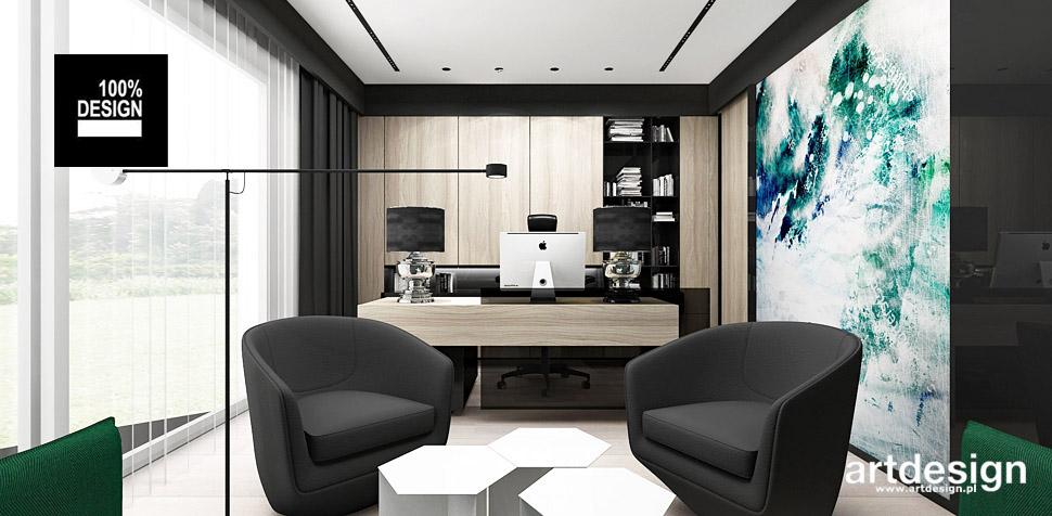 domowe biuro projekty wnętrz