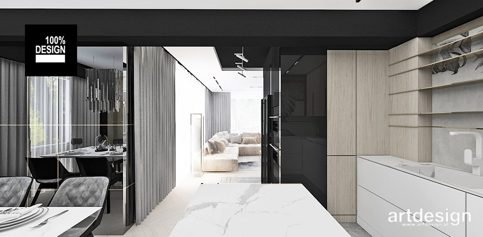 nowoczesny apartament wnętrza projekty