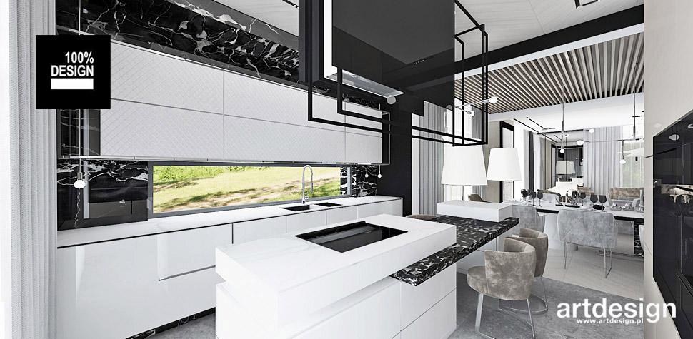 kuchnia nowoczesna biała projekt