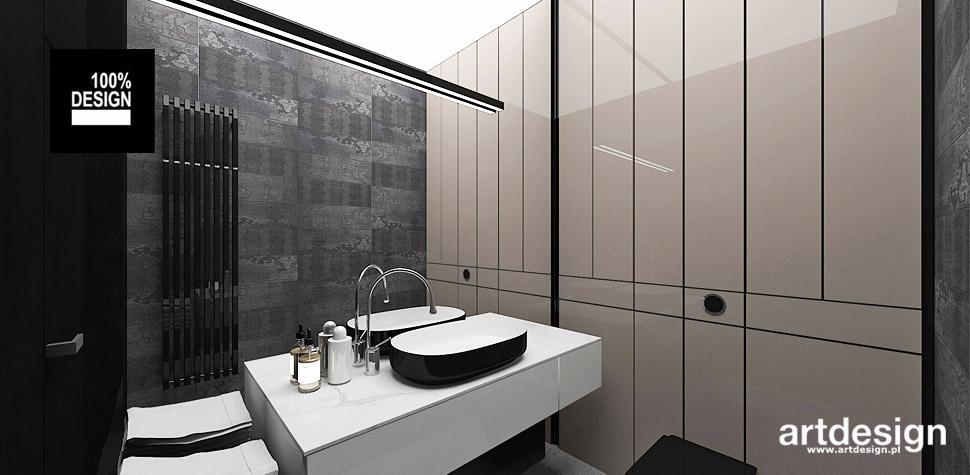 projekt łazienka beżowo szara wnetrza