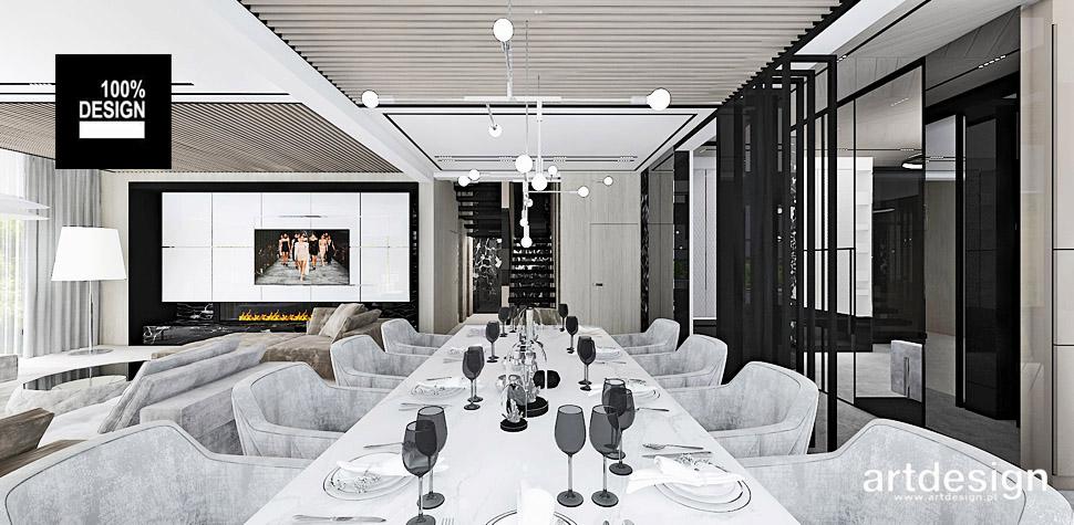 projekty wnętrz salon z jadalnia