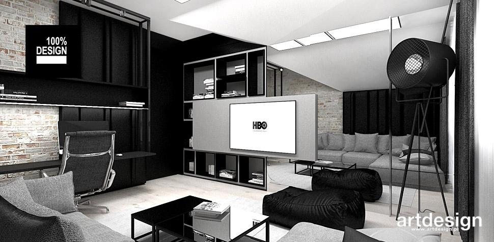 projekt wnętrz pokój telewizyjny