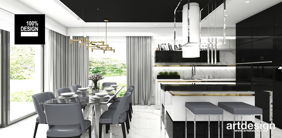 projekt wnętrz kuchnia jadalnia