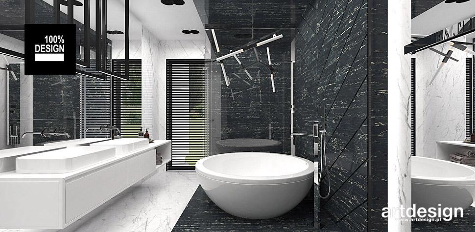 nowoczesna aranżacja wnętrz łazienek