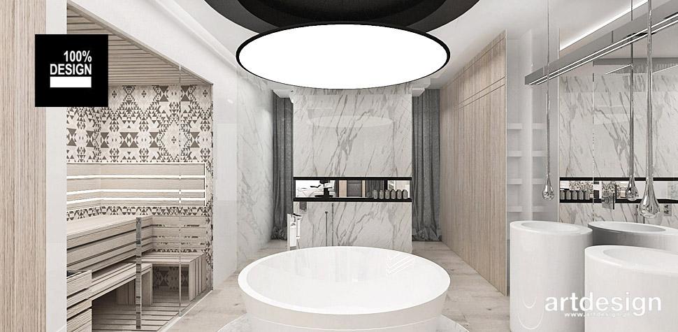 projekty wnętrz luksusowy dom łazienka