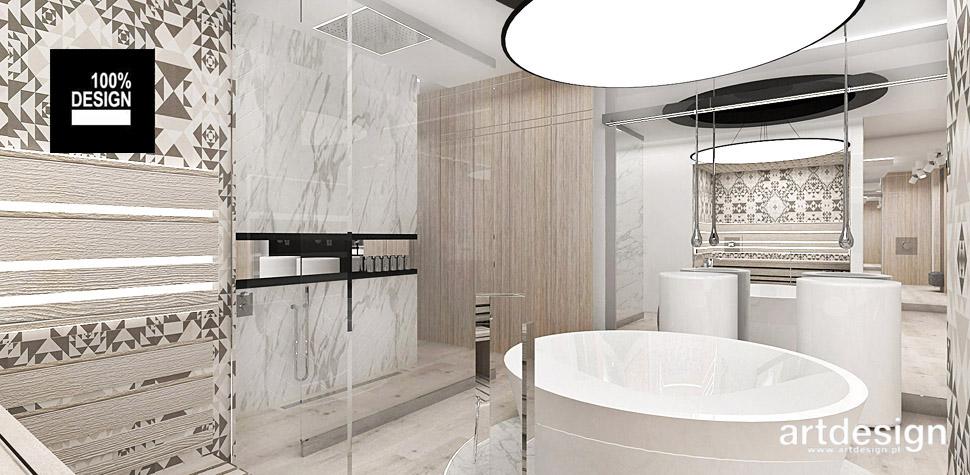 nowoczesna aranżacja wnętrz łazienki