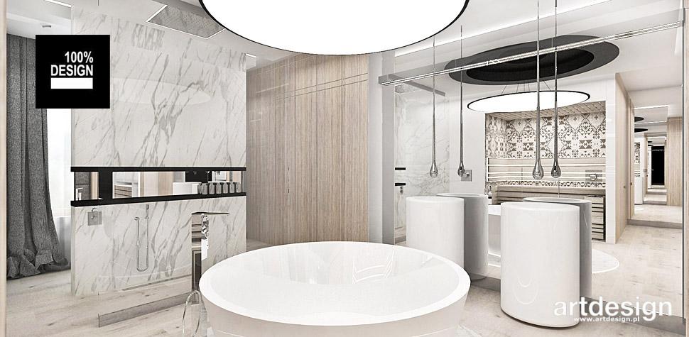 projektowanie wnętrz łazienki sauna