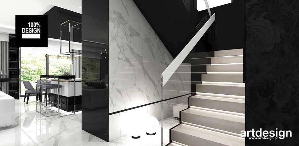 projekty wnętrz schody dom