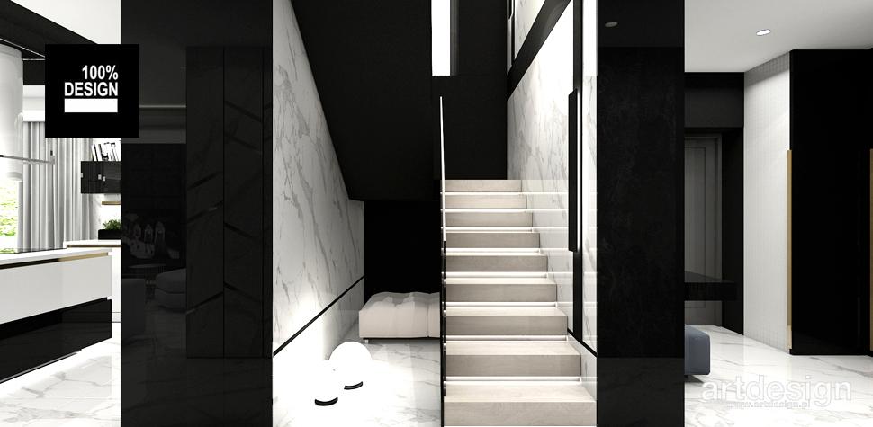 minimalistyczna klatka schodowa projekty wnętrz