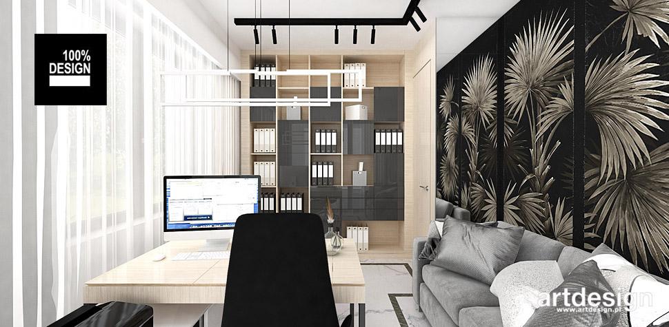 projekty wnętrz domowe biuro