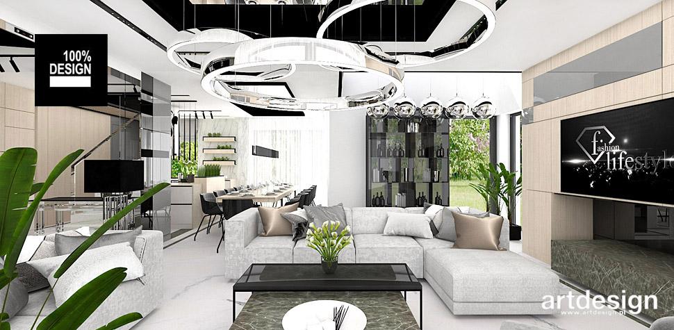 projektowanie wnętrz design salon