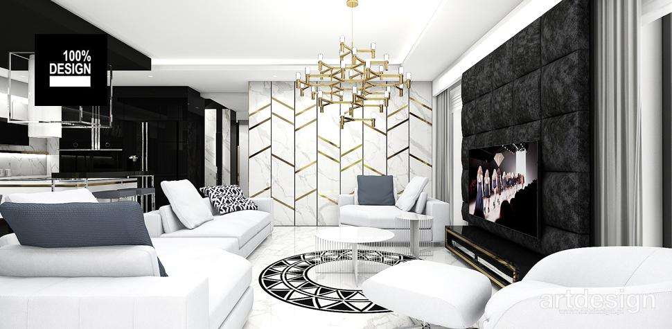 stylowy salon projektowanie wnętrz