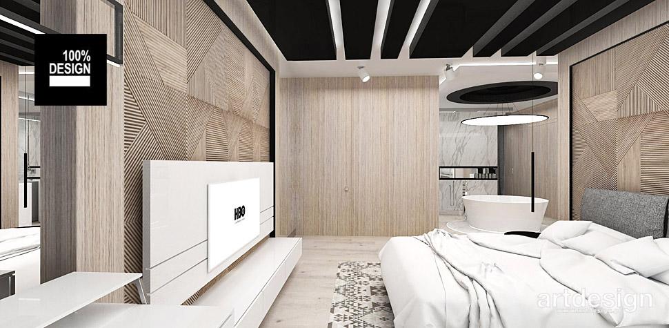 wnętrza aranżacje sypialni wnętrze