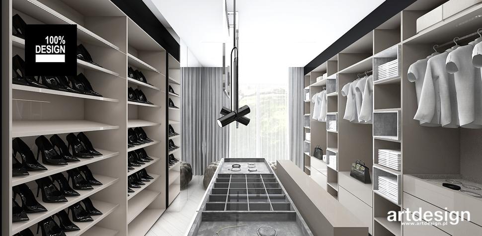 projekt przestronna garderoba
