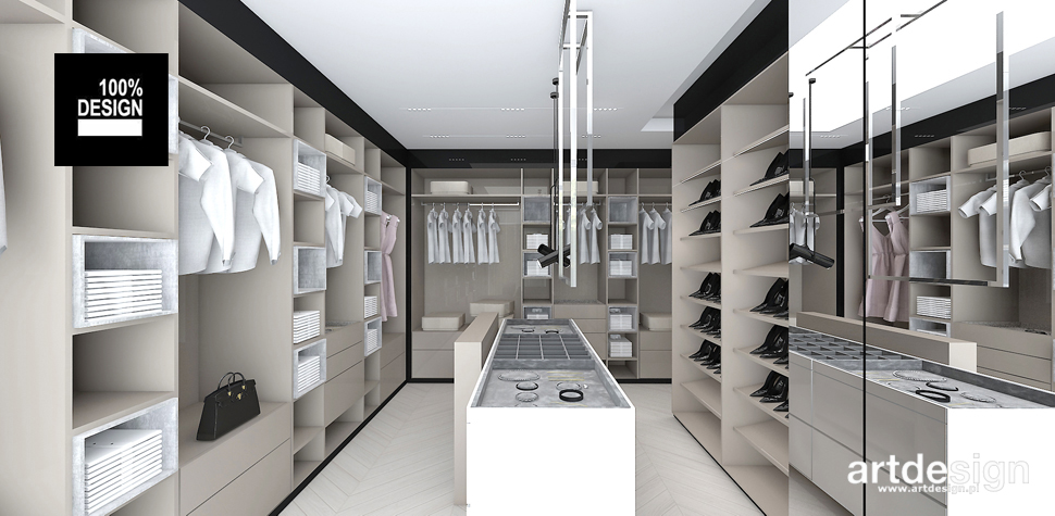 garderoba wnętrze nowoczesne