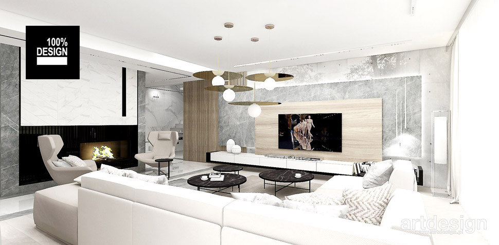 nowoczesny projekt salon