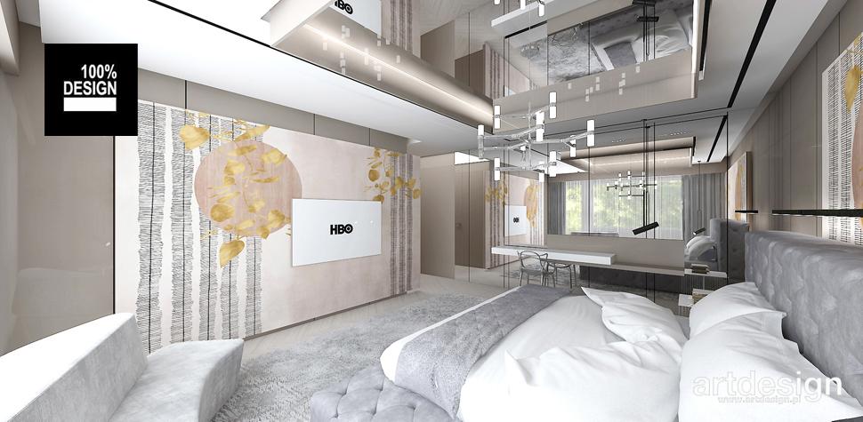 projekt sypialni ciepłe barwy